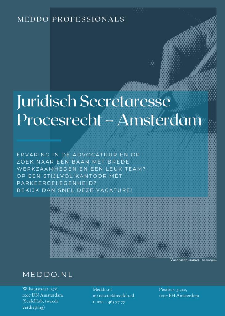 Juridisch Secretaresse Procesrecht - Amsterdam