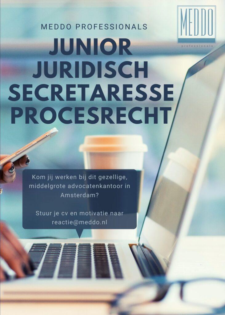 Junior Juridisch Secretaresse Procesrecht