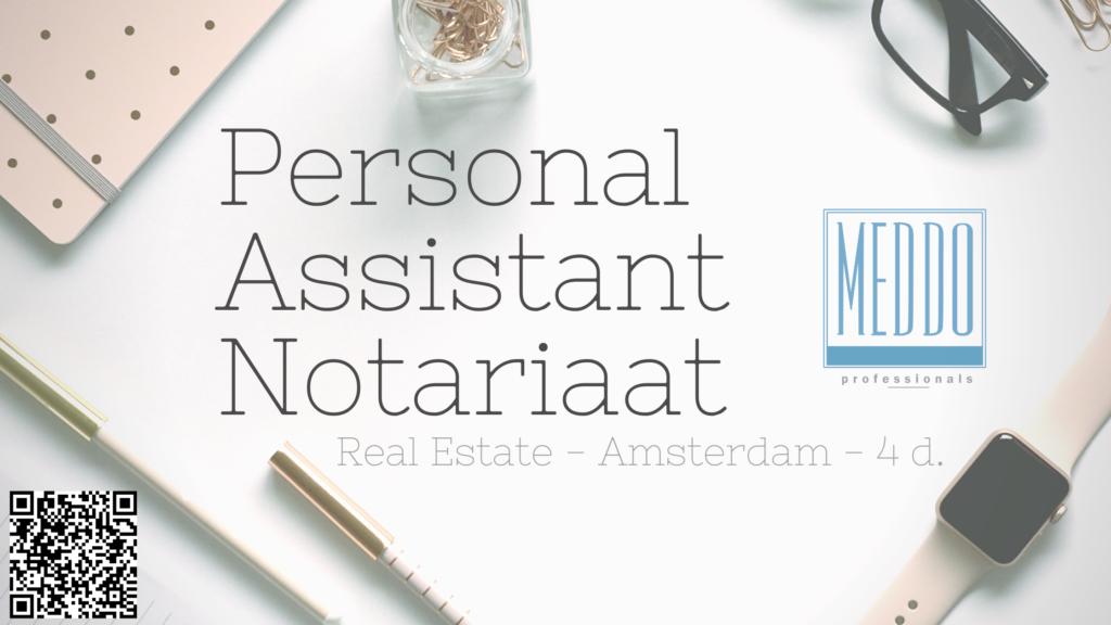 Vaccature Personal Assistant Notariaat - Amsterdam - Meddo