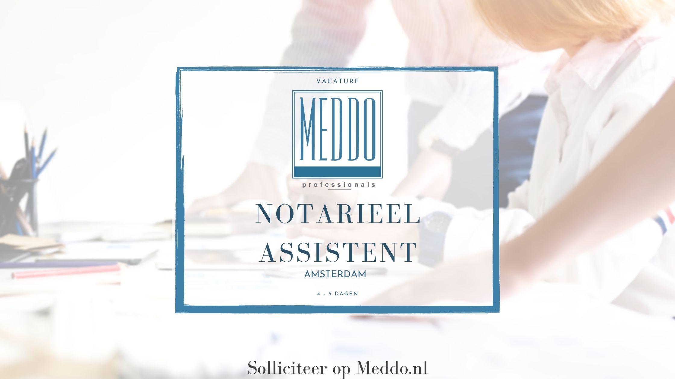 Notarieel assistent Amsterdam